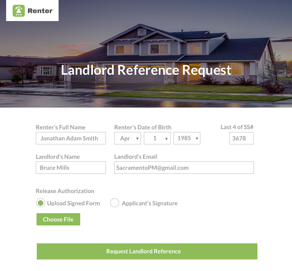 Request Landlord Reference Online