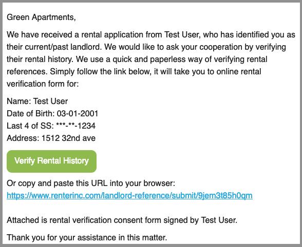Landlord Tenant Verification Letter from www.renterinc.com